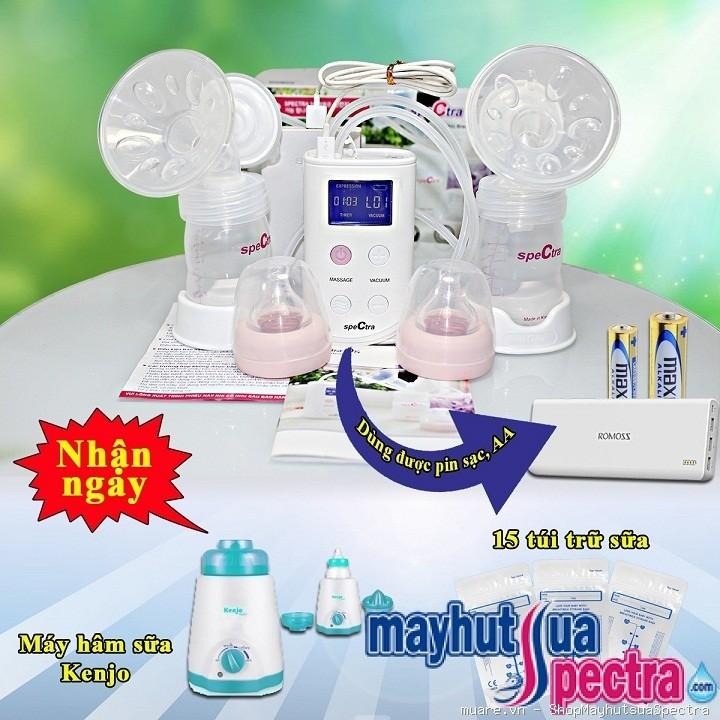 Dùng thử máy Máy hút sữa spectra 9s hút đôi điện pin miễn phí duy nhất tại Mayhutsuaspectra.com