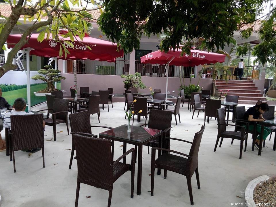 1001 mẫu bàn ghế cafe nhựa giả mây cao cấp bền đẹp sang trọng lịch sự