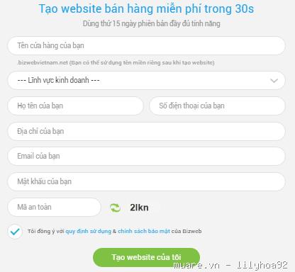 Tạo website bán hàng trực tuyến miễn phí với siêu web