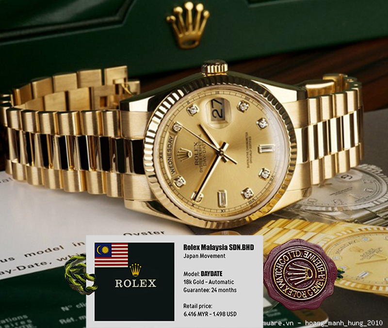 Ban cap Dho Rolex Piaget Longines Thuy Sy 917USD giam gia con 295USD