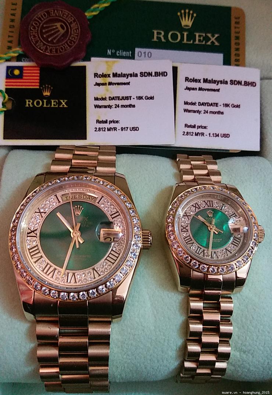Đ.hồ Rolex nam nữ Malaysia fullbox 1.134USD giảm còn 295USD, có ảnh chụp - 42