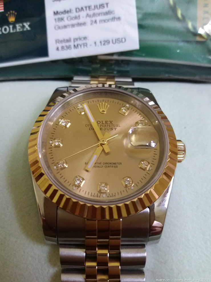 Ban dong ho Rolex Malaysia Omega Tissot Thuy Sy fullbox 1129USD giam con 250USD