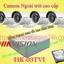 Lắp trọn 4 camera HIKVISION 1.0MP ngoai trời