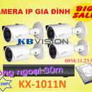Bộ 4 camera IP KBVISION dùng Ngoài Trời