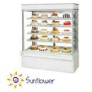 Tủ bánh kem dạng đứng 5 tầng(đá trắng)