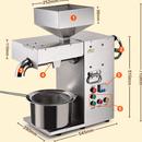 Máy ép dầu lạc dùng để ép thuê TA1 Năng suất ép 12-15 kg/h