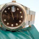 Đồng hồ Rolex Date Just 126331 Demi vàng hồng 18k, mặt nâu chocolate size 41mm