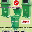 Ưu điểm của thùng rác nhựa 95L có đế