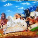 Tranh ngựa mẫu 001tại xưởng vẽ tranh sơn dầu Thế Kỷ 21