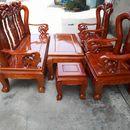 Bàn ghế quốc Đào gỗ Sồi tay 10