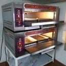 lò nướng bánh,nướng khoai lang mật 2 tầng 4 khay điện gas