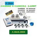 COMBO 4 CAMERA IP 3.0MP GIÁ RẺ