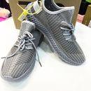 Giày sneaker nam xám bạc bên hông thêu chữ số Mã 350V2 X