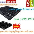 Pallet nhựa KT 1440x1100x140mm