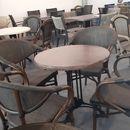 Bàn ghế cafe nan giả gỗ ngoài trời đẹp giá rẻ