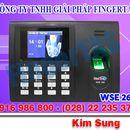 máy chấm công bằng vân tay wse269, giá rẻ siêu bền LH 0916 986800