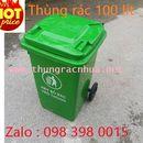 Thùng rác nhựa HDPE dung tích 100 lít