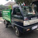 Xe ben chở rác suzuki 500kg thùng 2 khối vào hẽm