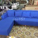 Sofa góc mới màu xanh