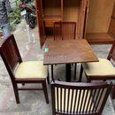 Bộ bàn 4 ghế cũ bọc nệm