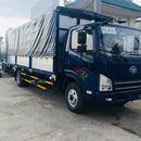 Xe tải 8 tấn - Xe tải faw 7.3 tấn - thùng bạt 6m2 - động cơ hyundai ga cơ 2017