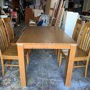 bộ bàn ăn gỗ ghép 4 ghế