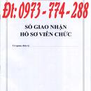 Sổ giao nhận hồ sơ viên chức mẫu bán toàn quốc