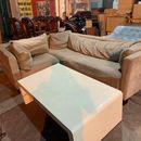 Bộ sofa góc bọc vải nhung cũ