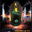Mouse Gaming CoolerPlus CPM X7C đen vàng, led chính hãng