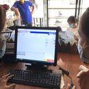 máy tính tiền cho gian hàng cafe
