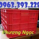 Sọt nhựa cao 31, sọt nhựa nan thẳng HS004, sóng nhựa công nghiệp