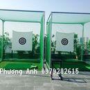 Khung tập golf 3m * 3m hàng nhập khẩu tặng thảm phát banh golf 1,5m * 1,5 m