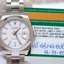 Đồng hồ Rolex Date Just II 126300 mặt trắng, cọc số dạ quang, size 41mm NEW