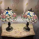 Đôi đèn phòng ngủ Tiffany họa tiết hoa chim