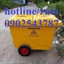 xe thu gom rác thải 660 lít ,thùng rác công cộng giá rẻ tại tphcm