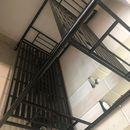 Giường tầng sắt màu đen 1m x 2m cũ