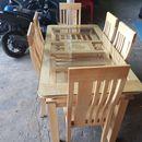 Bộ bàn ăn gỗ sồi 6 ghế Vip