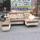 Bộ ghế sofa tiếp khách bọc vải cũ