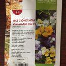 Hạt giống hoa Viola rũ đơn nhiều màu F1508