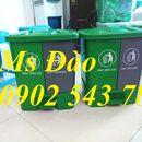 thùng rác 2 ngăn ,thùng rác 40 lít đạp chân 2 ngăn