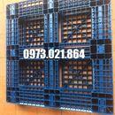 Pallet nhựa cũ giá rẻ kt 1200x1200x150mm
