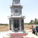 Mẫu mộ tháp phật giáo đẹp bằng đá tự nhiên chạm khắc tinh xảo