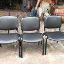 Ghế VP chân sắt bọc simili đen cũ