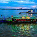 giao lưu karaoke buổi tối trên sông tại cảng du thuyền mỹ tho