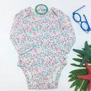 Bộ áo liền quần dài tay họa tiết xinh xắn đáng yêu cho bé gái BS030