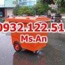 XE THU GOM RÁC 660L NHỰA COMPOSITE
