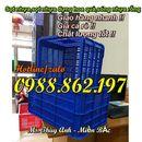 sọt nhựa cao 31cm,Sóng nhựa hở HS004, thùng nhựa hở, thùng nhựa hở giá rẻ.