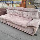 Băng ghế sofa bọc vải nhung cũ