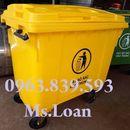 Thùng rác 660L màu vàng đựng rác thải y tế