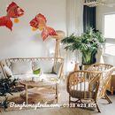 Bàn ghế mây tre đan tự nhiên đặt phòng khách